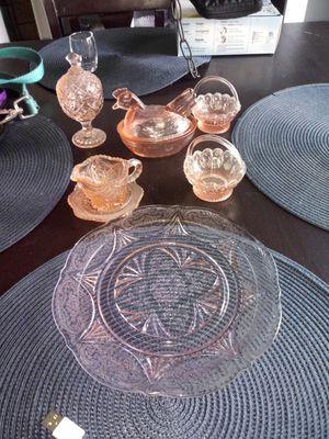 Vintage 30s Mini Tea Set Pink Depression Glass for Sale in Westminster, CO