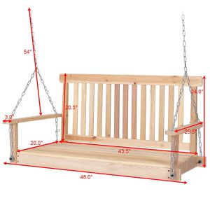 4 Foot Wood Garden Hanging Seat Chains Swing Ideal for Gardens Parks Backyards Porches and Patios for Sale in Fremont, CA