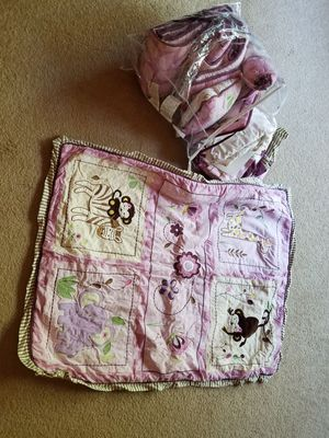In San Angelo: Baby girl crib bedding-price firm/already lowered for Sale in San Angelo, TX