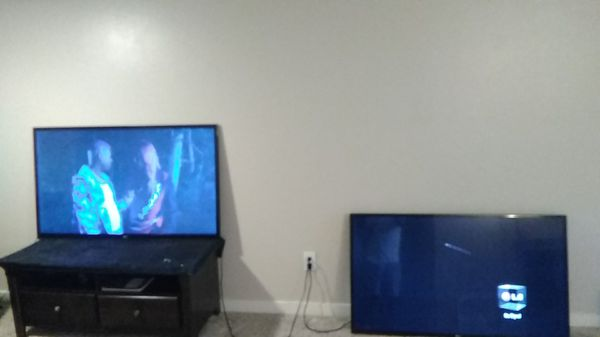 Two 55 inch lg tv work great nothing wrong with them besides minor scratch on one but doesn't effect the picture