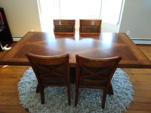 Dining table and chairs with buffet table for Sale in Traverse City, MI