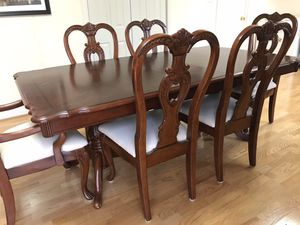 Dining Set (table w/ 6 chairs & china) for Sale in Fairfax, VA