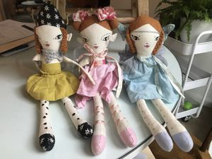 Three adorable fairy dolls from land of nod for Sale in Raleigh, NC