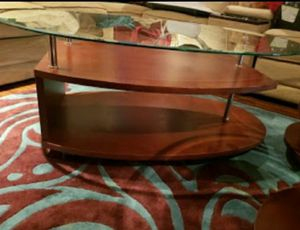 Contemporary wood glass coffee table for Sale in Jupiter, FL