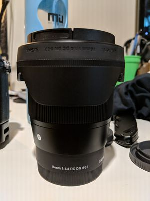 Sigma 16mm 1.6 Sony lens for Sale in Philadelphia, PA