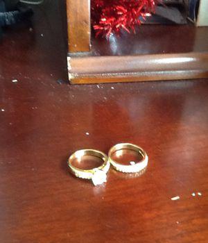 Custom women diamond wedding ring, plated 925 sterling silver gold zircon rings for Sale in Lehigh Acres, FL