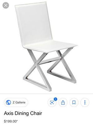Z Gallerie Axis Dining Chairs for Sale in Redwood City, CA
