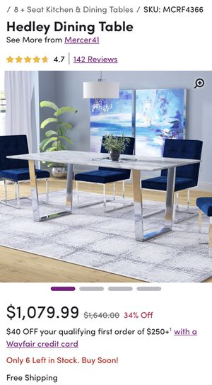 Hedley Dining Table Marble (Wayfair) for Sale in Tampa, FL