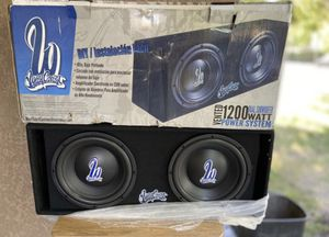 """West Coast Customs Dual 12"""" Subwoofer with amplifier for Sale in Modesto, CA"""