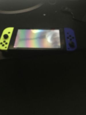 Nintendo switch dark blue and highlighter yellow for Sale in Upper Marlboro, MD