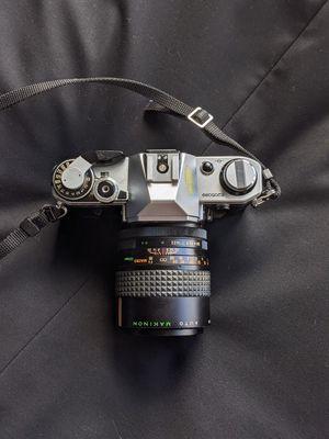 Canon AE-1 Film Camera   Makinon F=135mm Macro Lens for Sale in Herndon, VA