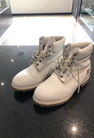 White Leather Timberlands size 12 Men for Sale in Los Angeles, CA
