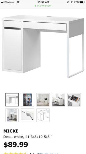 IKEA Micke desk in white for Sale in Arlington, VA
