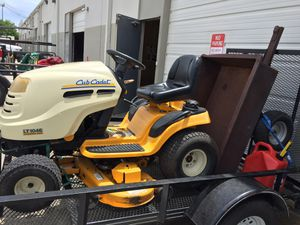 Cub Cadet LT 1046 Riding Lawn Mower and Trailer for Sale in Helotes, TX