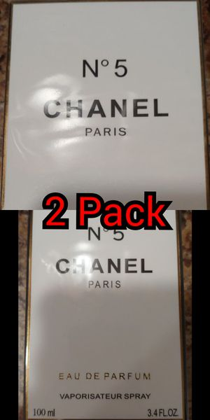 2 Pack - Chanel No 5 Women's Perfume - Each is 3.4 FL OZ for Sale in Ridley Park, PA
