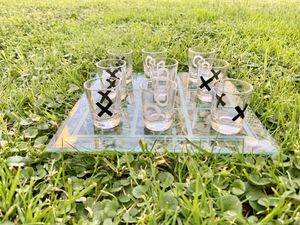 Fifth Avenue Crystal tic tac toe shot glass drinking games for Sale in Los Angeles, CA