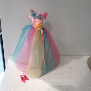Barbie Gown With Shoes for Sale in Fort Lauderdale, FL