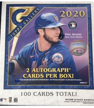 🔥 2020 Topps Gallery Baseball SEALED Hobby Box 2 AUTOGRAPHS 100 Cards Total for Sale in Los Angeles, CA