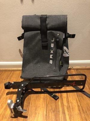 Arkel Cycling bike backpack dry pack and Randonneur rear bike rack for Sale in Houston, TX