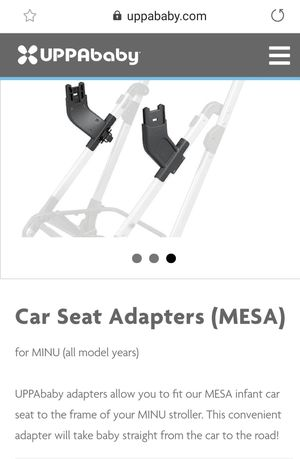 Uppababy mesa carseat adapter for MINU stroller for Sale in Bell, CA