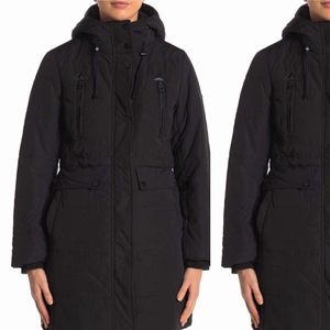 ✨New LUCKY BRAND Missy Faux Shearling Lined Hooded Parka Black Womens Size Medium (M) for Sale in Spring, TX