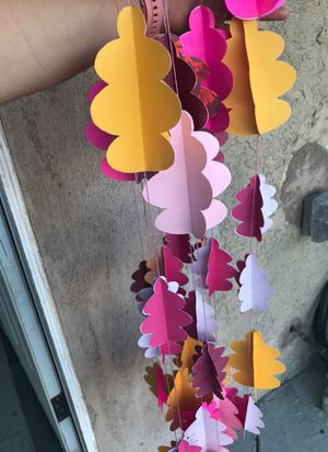 3D paper Pine Cone single stringed garland for Sale in Montclair, CA