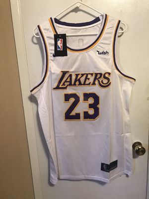 Lebron James #23 white Los Angeles lakers jersey ! for Sale in Sylmar, CA