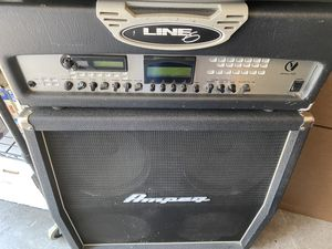 Line 6 Vetta and Ampeg 4x12 Cabinet both work great for Sale in Las Vegas, NV