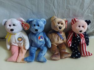 TY Beanie Babies - Lot of 4: Bear, Spangle, Beanie and Clubby III extremely Rare. for Sale in Hyattsville, MD