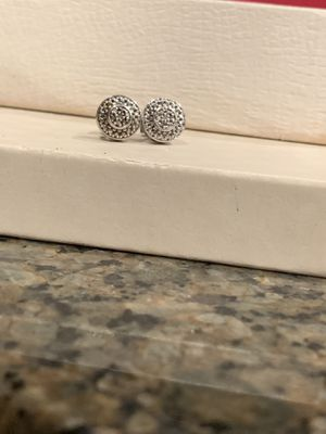 925 sterling silver & diamond stud earrings for Sale in Ooltewah, TN