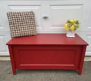 Beautiful red bench / chest for Sale in Olympia, WA