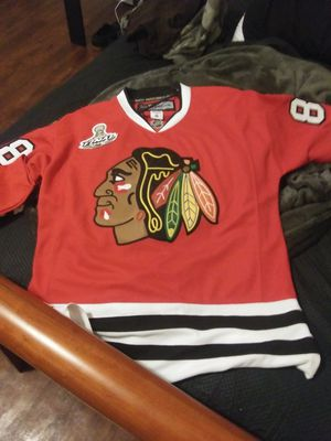 Patrick Kane cup chicago blackhawks jersey for Sale in Chicago, IL