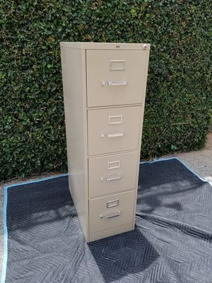 Hon 4-Drawer Filing Cabinet Letter Sized Tan for Sale in Los Angeles, CA