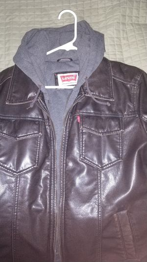 Brown Levi Leather Bomber Jacket for Sale in Tampa, FL