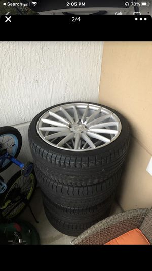 SET OF 4 19' INCH RIMS AND TIRES! GREAT DEAL!! GREAT CONDITION!! for Sale in Lake Worth, FL