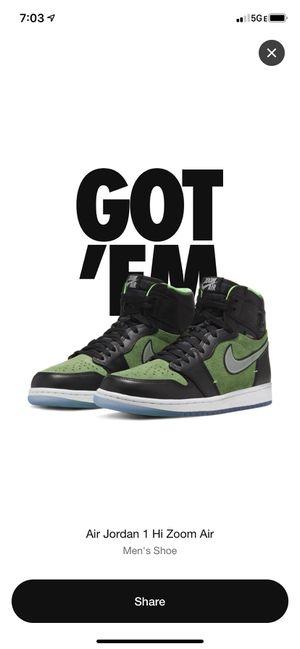 Nike Air Jordan 1 zoom Zen green 8.5 for Sale in Moreno Valley, CA