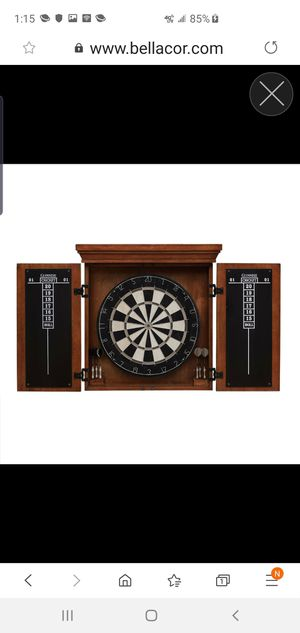 Athos Brown Wooden Dart Board Cabinet Set for Sale in Saint Charles, MO