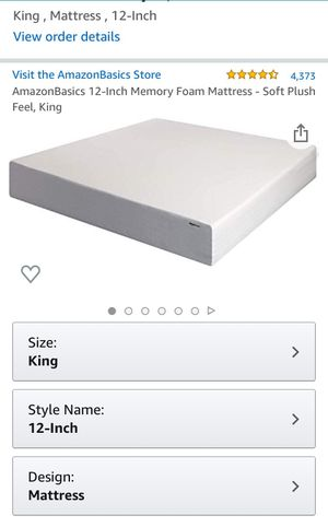 King matress and bedframe for Sale in Seattle, WA