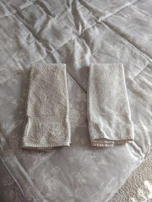 Porch pick up Steele Creek two faded white hand towels for Sale in Charlotte, NC