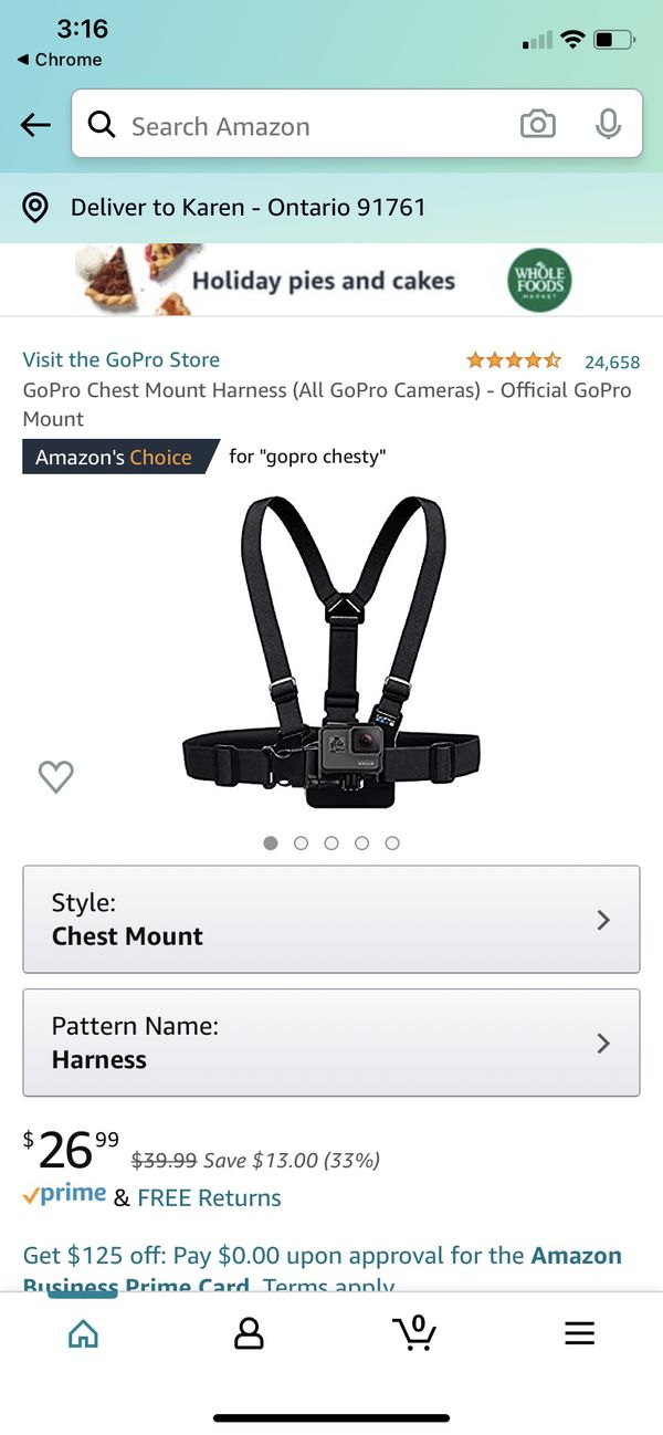 Brand New GoPro Hero And Chest Harness