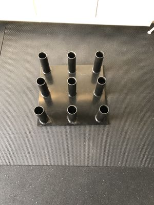 9 Olympic barbell vertical storage holder for Sale in Irvine, CA