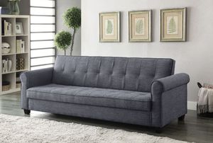 ADJUSTABLE SOFA W / STORAGE BLUE-GRAY for Sale in Hialeah, FL