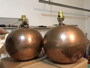 Copper hammered table lamps (2) for Sale in Twinsburg, OH