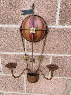Metal Hot ballon wall candle decor for Sale in Downey, CA