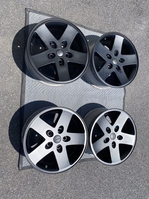 "Jeep Wrangler Grand Cherokee Commander 17"" Alloy Wheels Flat Black Professionally Refurbished for Sale in Manheim, PA"