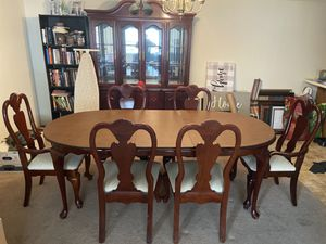 Cherry Dinning Table & China Cabinet for Sale in Hannibal, MO
