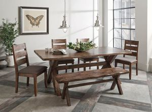 Alston 5 Piece Dining Set in Knotty Nutmeg Finish by Coaster - 107241 The Alston Collection by Coas for Sale in Naples, FL