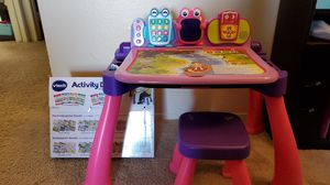 Vtech learn desk and extension pack for Sale in Chula Vista, CA
