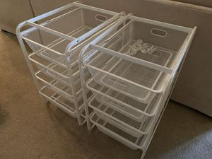 IKEA metal shelving with drawers - stackable for Sale in Denver, CO