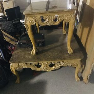marble top victorian coffee tables. for Sale in Phoenix, AZ